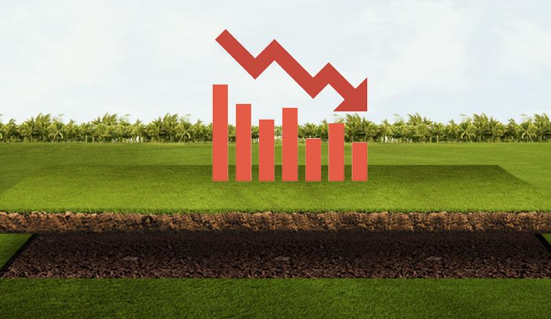 Vente de terrains : les indices dans le rouge